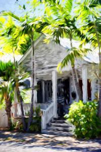 Colonial House - In the Style of Oil Painting by Philippe Hugonnard