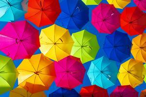 Colourful Umbrellas Collection - Dark Blue Sky by Philippe Hugonnard