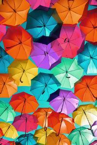 Colourful Umbrellas Collection - Turquoise Sky by Philippe Hugonnard