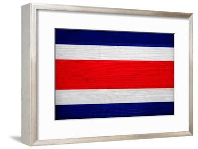 Costa Rica Flag Design with Wood Patterning - Flags of the World Series