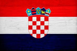 Croatia Flag Design with Wood Patterning - Flags of the World Series by Philippe Hugonnard