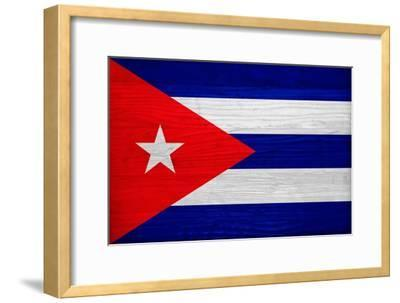 Cuba Flag Design with Wood Patterning - Flags of the World Series