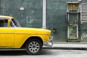 Cuba Fuerte Collection - 615 Street and Yellow Car by Philippe Hugonnard