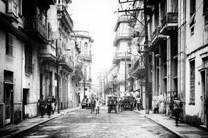 Cuba Fuerte Collection B&W - Old Havana Street III by Philippe Hugonnard