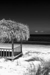Cuba Fuerte Collection B&W - Tropical Beach Umbrella II by Philippe Hugonnard