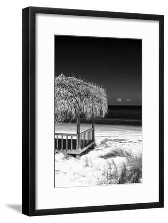 Cuba Fuerte Collection B&W - Tropical Beach Umbrella II
