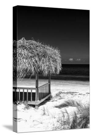 Cuba Fuerte Collection B&W - Tropical Beach Umbrella II