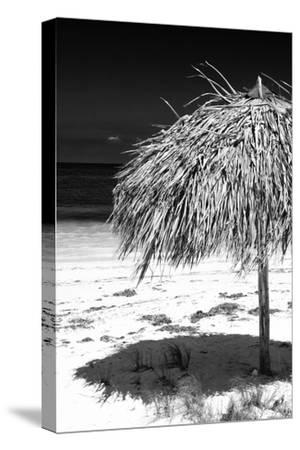 Cuba Fuerte Collection B&W - Tropical Beach Umbrella IV
