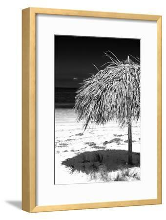 Cuba Fuerte Collection B&W - Tropical Beach Umbrella IV