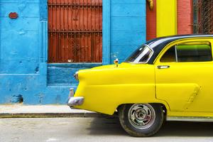 Cuba Fuerte Collection - Close-up of Yellow Taxi of Havana II by Philippe Hugonnard