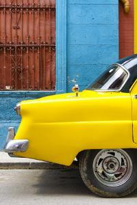 Cuba Fuerte Collection - Close-up of Yellow Taxi of Havana III by Philippe Hugonnard
