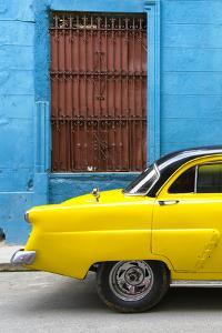 Cuba Fuerte Collection - Close-up of Yellow Taxi of Havana by Philippe Hugonnard
