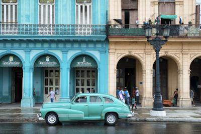 Cuba Fuerte Collection - Colorful Architecture and Turquoise Classic Car by Philippe Hugonnard