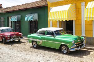 Cuba Fuerte Collection - Cuban Green and Red Taxis by Philippe Hugonnard