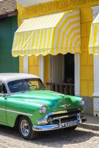 Cuba Fuerte Collection - Cuban Green Taxi II by Philippe Hugonnard