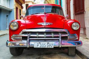 Cuba Fuerte Collection - Detail on Red Classic Chevy by Philippe Hugonnard