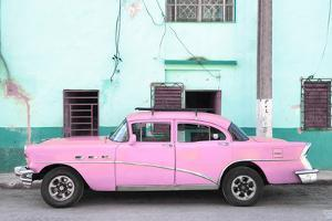 Cuba Fuerte Collection - Havana Classic American Pink Car by Philippe Hugonnard