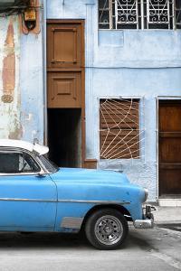 Cuba Fuerte Collection - Havana's Blue Vintage Car II by Philippe Hugonnard