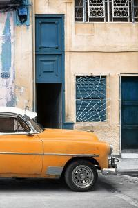Cuba Fuerte Collection - Havana's Orange Vintage Car II by Philippe Hugonnard