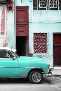 Cuba Fuerte Collection - Havana's Turquoise Vintage Car II by Philippe Hugonnard