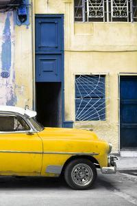 Cuba Fuerte Collection - Havana's Yellow Vintage Car II by Philippe Hugonnard
