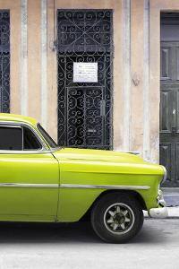 Cuba Fuerte Collection - Lime Green Classic Car by Philippe Hugonnard