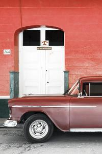 Cuba Fuerte Collection - Old Red Car II by Philippe Hugonnard