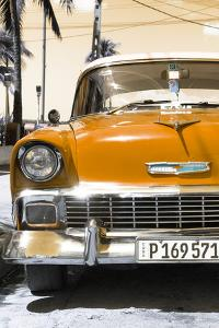 Cuba Fuerte Collection - Orange Chevy Classic Car by Philippe Hugonnard