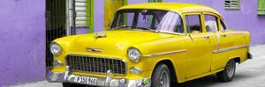 Cuba Fuerte Collection Panoramic - Beautiful Classic American Yellow Car by Philippe Hugonnard