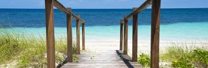 Cuba Fuerte Collection Panoramic - Boardwalk on the Beach II by Philippe Hugonnard