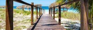Cuba Fuerte Collection Panoramic - Boardwalk on the Beach by Philippe Hugonnard