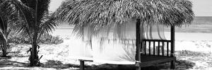 Cuba Fuerte Collection Panoramic BW - Paradise Beach Hut by Philippe Hugonnard