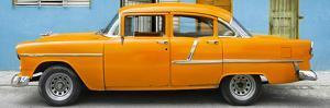Cuba Fuerte Collection Panoramic - Classic American Orange Car in Havana by Philippe Hugonnard