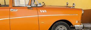 Cuba Fuerte Collection Panoramic - Close-up of Retro Orange Car by Philippe Hugonnard