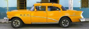 Cuba Fuerte Collection Panoramic - Havana Classic American Orange Car by Philippe Hugonnard