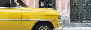 Cuba Fuerte Collection Panoramic - Havana Yellow Car by Philippe Hugonnard