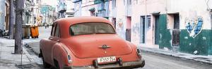 Cuba Fuerte Collection Panoramic - Orange Classic Car in Havana by Philippe Hugonnard