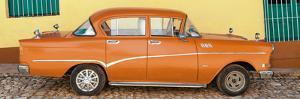 Cuba Fuerte Collection Panoramic - Orange Classic Car in Trinidad by Philippe Hugonnard