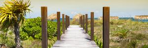 Cuba Fuerte Collection Panoramic - Wild Beach Jetty at Sunset by Philippe Hugonnard