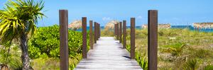Cuba Fuerte Collection Panoramic - Wooden Jetty on the Beach by Philippe Hugonnard