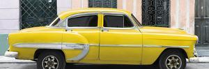 Cuba Fuerte Collection Panoramic - Yellow Bel Air Classic Car by Philippe Hugonnard