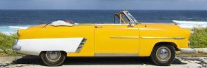 Cuba Fuerte Collection Panoramic - Yellow Cabriolet Car by Philippe Hugonnard