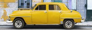 Cuba Fuerte Collection Panoramic - Yellow Classic American Car by Philippe Hugonnard
