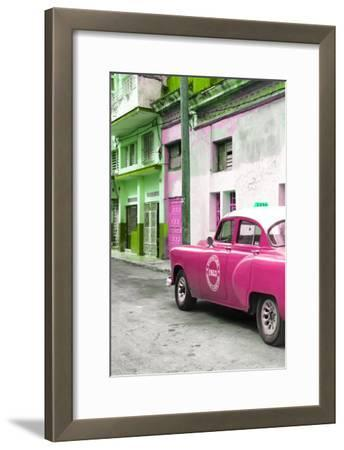 Cuba Fuerte Collection - Pink Taxi Car in Havana