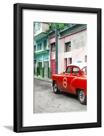 Cuba Fuerte Collection - Red Taxi Car in Havana