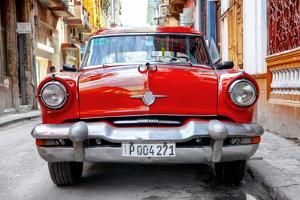 Cuba Fuerte Collection - Red Taxi of Havana by Philippe Hugonnard