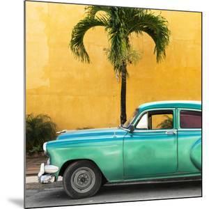 Cuba Fuerte Collection SQ - Beautiful Retro Green Car by Philippe Hugonnard