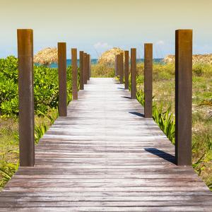 Cuba Fuerte Collection SQ - Boardwalk on the Beach at Sunset by Philippe Hugonnard