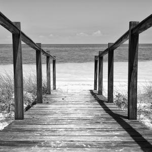 Cuba Fuerte Collection SQ BW - Boardwalk on the Beach II by Philippe Hugonnard