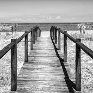 Cuba Fuerte Collection SQ BW - Boardwalk on the Beach III by Philippe Hugonnard